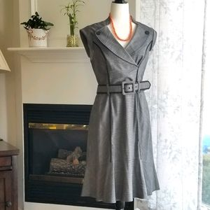 Le Château Belted Grey Business Dress